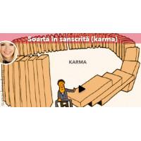 Soarta în sanscrită (karma)