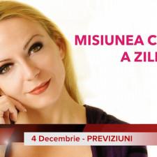 4 Decembrie: Previziunea zilei