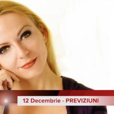 12 Decembrie: Previziunea zilei