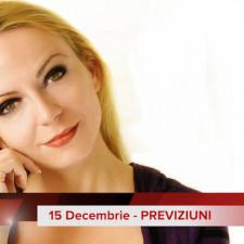 15 Decembrie: Previziunea zilei