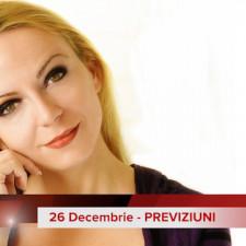 26 Decembrie: Previziunea zilei