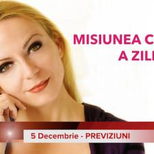 5 Decembrie: Previziunea zilei