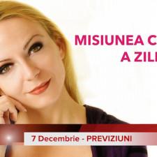 7 Decembrie: Previziunea zilei