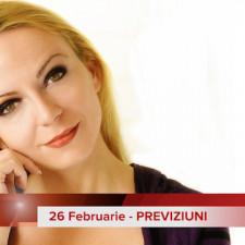 26 Februarie: Previziunea zilei