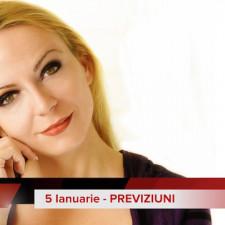 5 Ianuarie: Previziunea zilei