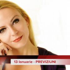 13 Ianuarie: Previziunea zilei