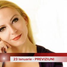 23 Ianuarie: Previziunea zilei