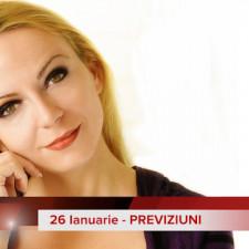 26 Ianuarie: Previziunea zilei