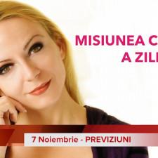 7 Noiembrie: Previziunea zilei