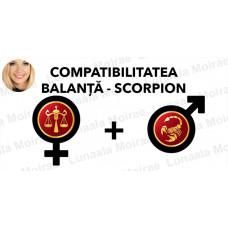 Compatibilitatea Balanta  - Scorpion  în dragoste si casatorie