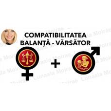 Compatibilitatea Balanta  - Varsator  în dragoste si casatorie