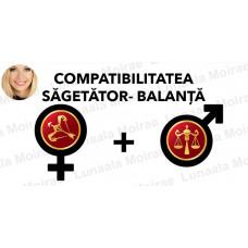 Compatibilitatea Sagetator  - Balanta  în dragoste si casatorie