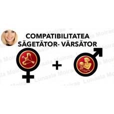 Compatibilitatea Sagetator  - Varsator  în dragoste si casatorie