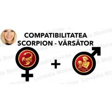 Compatibilitatea Scorpion  - Varsator  in dragoste si casatorie